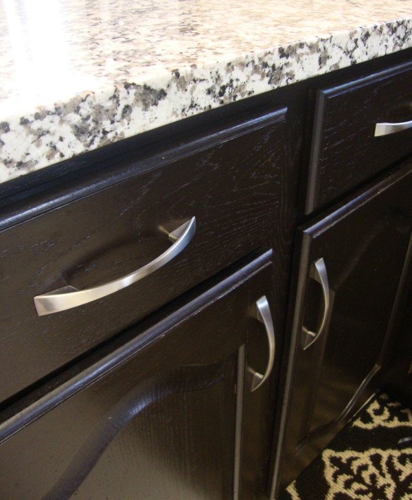 General Finishes Java Gel Stain cabinets