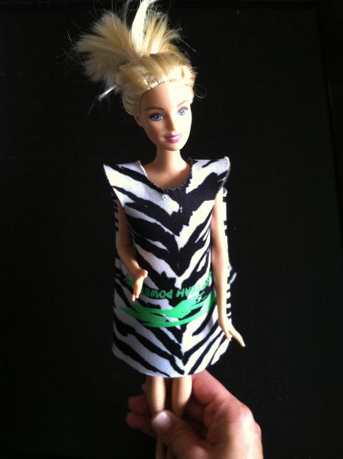 no sew koozie barbie dress