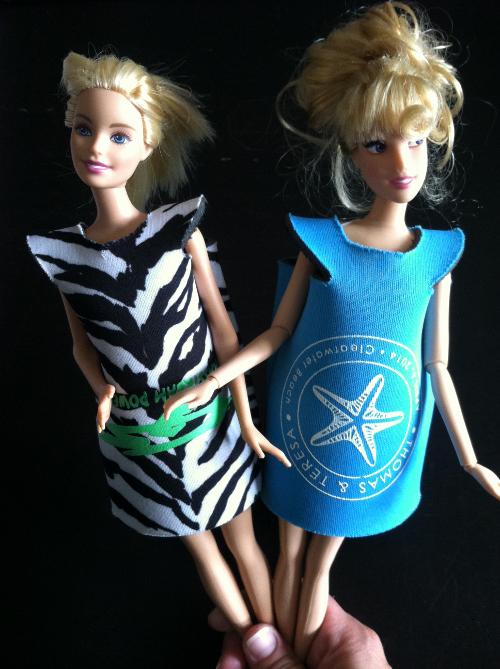 barbie no sew koozie dress