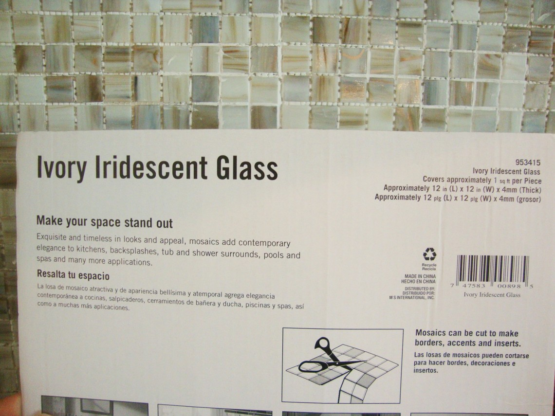 ivory irdescent glass