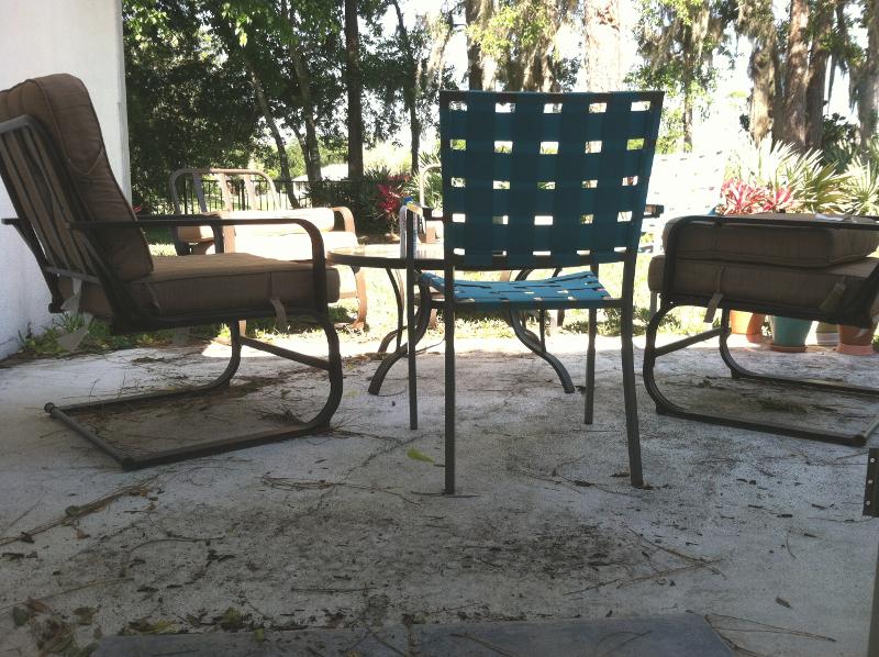 peeling concrete patio