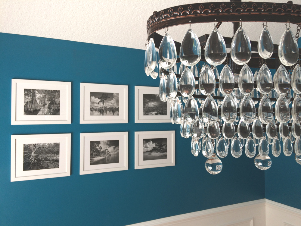 chandelier photo collage