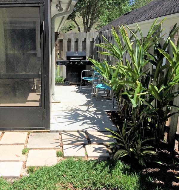 grill patio concrete pavers porch