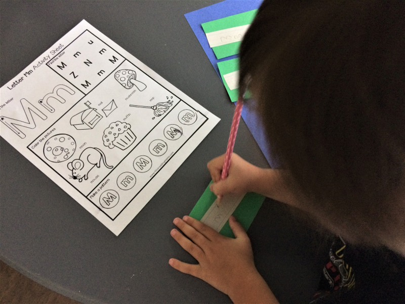 writing alphabet words
